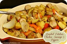 Secret Recipe Club: Roasted Potatoes, Chicken Sausage and Peppers