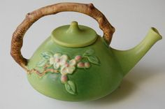 ROSEVILLE Pottery APPLE BLOSSOM TEA POT