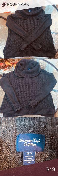 American Eagle grey sweater XS Very soft cowl neck sweater, very good condition American Eagle Outfitters Sweaters Cowl & Turtlenecks