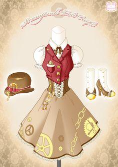 Steampunk Loli Outfit by *Neko-Vi on deviantART