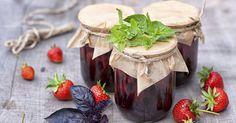Confiture de fraises au basilic