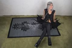 Cyber Goth Silver Crow Blanket and Shawl. The perfect Goth Decor Picnic Blanket and Scarf for Sith Raven Cosplay with amazing Crow Print   Our Crow Blanket Scarf if its getting cold again in the outdoor festival season ;)   Perfect as accessory to create a look like Assassins Fashion , Dark Mori or Raven Cosplay, Blanket Shawl, Dark Mori, Sith, Festival Outfits, Festival Fashion, Crow, Picnic Blanket, Jedi Outfit