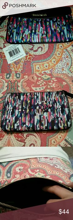 *NEW* Watercolor brushstrokes envelope wristlet Vera Bradley multicolored wristlet. New, never used. Vera Bradley Bags Clutches & Wristlets