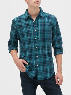 Men Fashion, Fashion Outfits, Smart Casual Men, Men Shirts, Mens Clothing Styles, Flannel Shirt, Banana Republic, Indigo, Casual Outfits