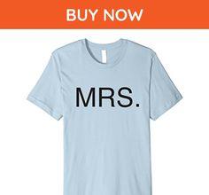 Mens Mrs Womens Bride Shirt Short Sleeve T-shirt XL Baby Blue - Wedding shirts (*Amazon Partner-Link)