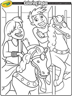 Carousel Horses Coloring Page