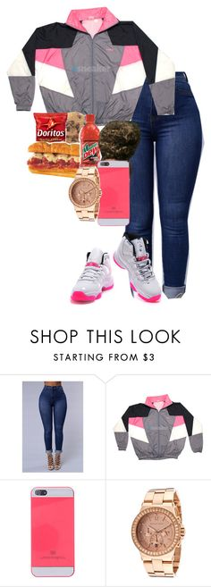 """""""what it is?"""" by r0yalkae ❤ liked on Polyvore featuring NIKE and Michael Kors"""