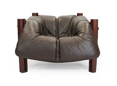 Percival Lafer, Leather lounge chair for Lafer Furniture, 1970s.
