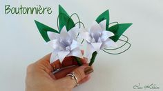 Origami: Boutonnière - Flor de Lapela