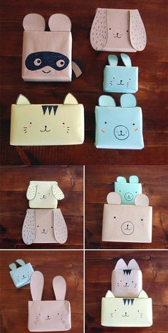Cute animals gift wrapping