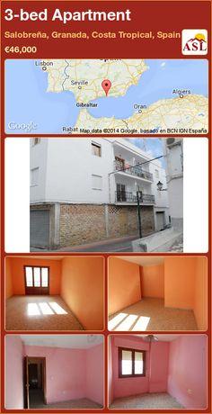 3-bed Apartment in Salobreña, Granada, Costa Tropical, Spain ►€46,000 #PropertyForSaleInSpain