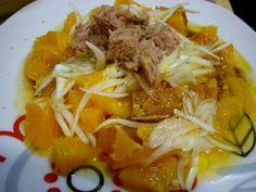 Receta Entrante : Ensalada de naranja y atún por Quinabonapinta