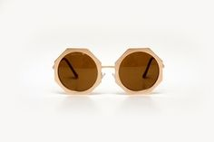 Óculos redondo oversized dourado