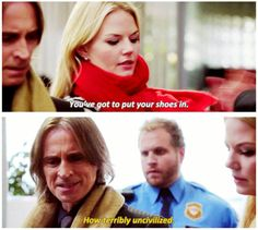 """OUAT """"Manhattan""""-- Emma and Mr. Gold at the airport."""