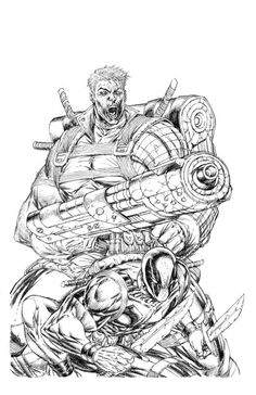 Cable & Deadpool (illustrated by Rob Liefeld; Marvel Comics).