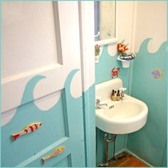 99 Steps to the Beach, AFTER Jane Coslick Designs & Restorations (Pod Bathroom idea)