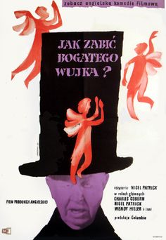 Jerzy Cherka, How to Murder a Rich Uncle, 1959 Cinema Posters, Movie Posters, Polish Posters, English Movies, Poland, School, Books, Poster, Film Posters