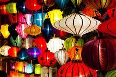 Vietnam, Chinese Lanterns, Full Moon Festival at Hoi An, Vietnam, Asia, by editorial travel photographer Matthew Williams-Ellis