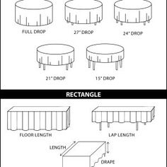 Standard Round Banquet Table Sizes