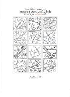 Victorian Crazy Quilt Blocks pattern on Craftsy.com
