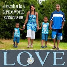 Family Created by Love Shine Scrapbook Layout Page Idea from Creative Memories