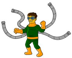 51-Spiderman-octopus-66 personajes y celebridades versión Simpsons