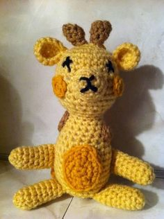Giraffe Amigurumi by pocketfulofposiesbou on Etsy, $26.00