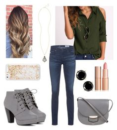 """""""There's that"""" by mlilsw on Polyvore featuring AG Adriano Goldschmied, ban.do, CÉLINE and Kendra Scott"""