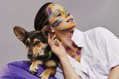 """""""4 łapy & make-upy"""" - sesja zdjęciowa na rzecz psów z Fundacji Bezdomniaki / Yogi szuka domu, kontakt w sprawie adopcji lub domu tymczasowego - Fundacja Bezdomniaki, tel: 602608109 / MUA: Paula Nowak / Modelka: Kinga Korszla / Fotografia: Piotr Pazdyka #SWiCH #akademia_SWiCH #wizaż #pies #niekupujadoptuj #4łapyimakeupy #makijaż #woman #dog #dogandwoman #FundacjaBezdomniaki"""