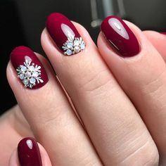 Elegant Nail Art Design for Perfect Winter Ideas - The most beautiful nail designs Red Nail Art, Glitter Nail Art, Red Glitter, Sparkle Nails, Red Art, Red Stiletto Nails, Red Nails, Coffin Nails, Matte Nails