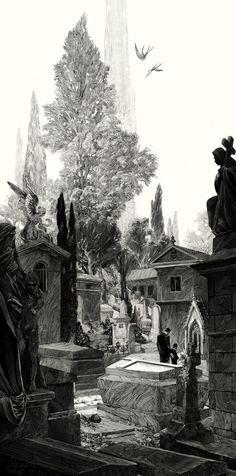 Cemitério - Ilustração