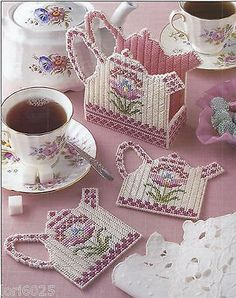 Teapot Coaster Set 1 Annie's Pattern Only Plastic Canvas Pattern | eBay
