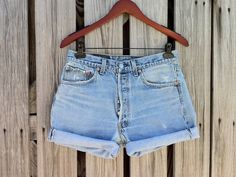 Vintage LEVI 501 Button Fly Jean Shorts  HIGH by TomieHarlene, $21.50
