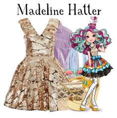 """Ever After High's Madeline Hatter"" by live-love-lizzie ❤ liked on Polyvore featuring 3.1 Phillip Lim, BaubleBar, Kate Spade, Hint of Gold, Rare Opulence, Chanel and Jessica Simpson"