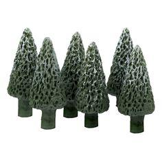 """Miniature Six 7/8"""" Tall Pine Trees"""