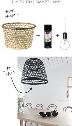 DIY to Try | Basket Lamp | NimiDesign | Bloglovin