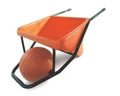 Re-inventing the wheel - James Dyson re-designed the conventional wheelbarrow. Never one for fancy names, James called it Ballbarrow.