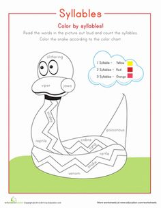 Syllable worksheets for second graders