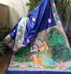 Hand Painted Sarees, Handloom Saree, Art Forms, Outdoor Blanket, Embroidery, Quilts, Painting, Needlepoint, Quilt Sets