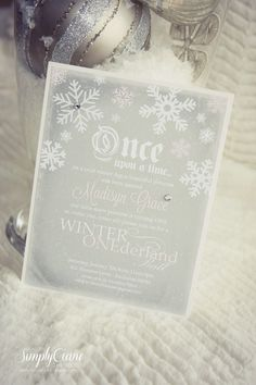 Simply Ciani: Once upon a time... Birthday Party - Winter ONEderland, Storybook Birthday, Princess Birthday, Winter Birthday, Snowflake Birthday, 1st Birthday