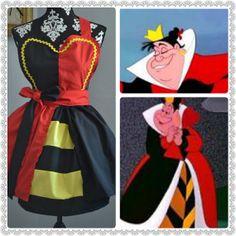 Pre-Order  The QUEEN of HEARTS COSPLAY Apron Alice in Wonderland