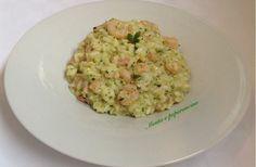 Risotto con crema di zucchine e gamberetti