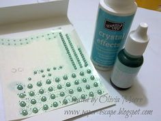 Paper Escape ~ Olivia Moore: Stampin'Up! Demonstrator Australia: Homemade Tinted Pearl Embellishments