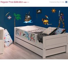 ON SALE Pirate Set boys wall decal deco sticker by StyleandApply, $33.96