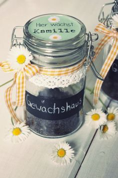 Greenhouse in glass – gift - Diy And Crafts idea C'est Bon, Gourmet Recipes, Mason Jars, Germany, Presents, Ceramics, Tableware, Glass, Kindergarten