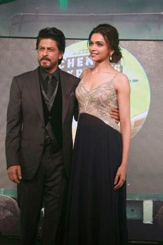 Shah Rukh Khan and Deepika Padukone promoting Chennai Express. #Bollywood #Fashion