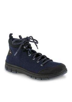 Easy Street Navy Combo Sport Lyla Tie Casual Shoe