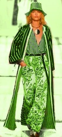 Green - Etro Milano Spring/Summer 2017 Ready-To-Wear-Shows-Vogue.it