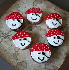 Pirate cupcakes - no instructions on the link but these look easy to make.