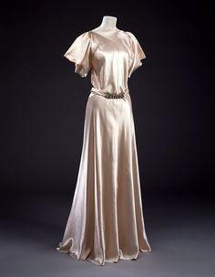 Madeleine Vionnet evening dress, 1934